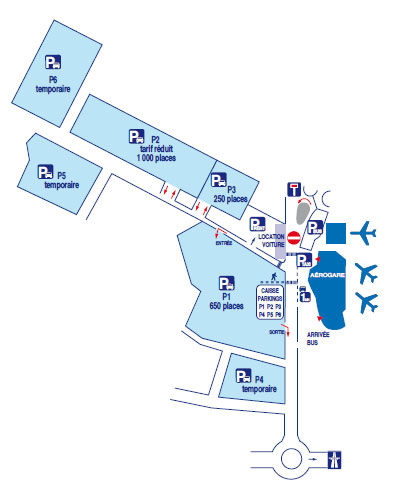 car parks and car park rates at paris beauvais airport. Black Bedroom Furniture Sets. Home Design Ideas