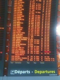Charles de Gaulle airport flight schedule