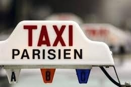Taxi strike in Paris