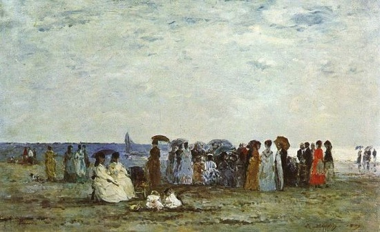 Orsay Museum: Bathers on the Beach at Trouville, Eugène Boudin