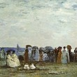 <p><b>Orsay Museum:</b> Bathers on the Beach at Trouville, Eugène Boudin</p>