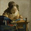 <p><b>Louvre Museum:</b> The Lacemaker, Vermeer</p>