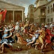 <p><b>Louvre Museum: </b>The rape of Sabine women, Nicolas Poussin</p>