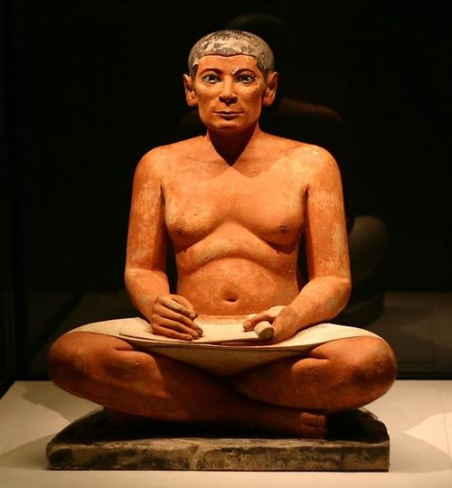 Louvre Museum: The Seated Scribe from Saqqara