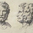 <p><b>Louvre Museum:</b> Three lion-like heads, Charles le Brun</p>