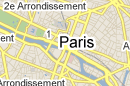 Carte des Hôtels de Paris, France